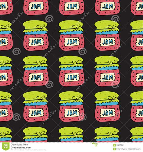 pattern of jam seamless pattern with jam marmalade vector illustration