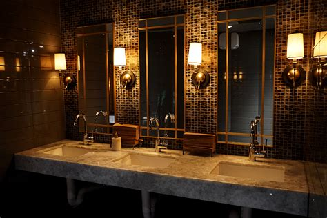 modern restrooms design and dim sum at the embarcadero san francisco