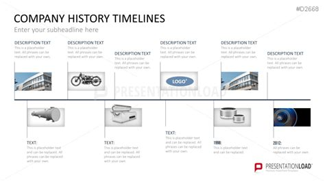 company history template powerpoint timeline template for company histories