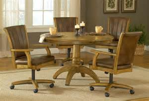 Dining Room Sets With Chairs On Casters Hillsdale Grand Bay Round Dining Set With Caster Chair