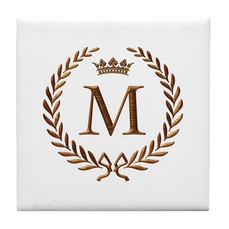 Inexpensive Housewarming Gifts by Napoleon Initial Letter M Monogram Tile Coaster By Jackthelads