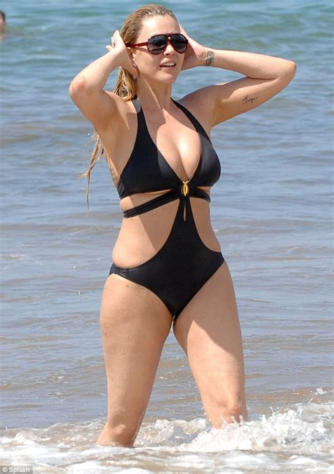 wives in hot swim suits former miss usa shanna moakler bares post liposuction body