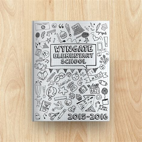 yearbook cover layout wyngate elementary school yearbook cover 2015 2016