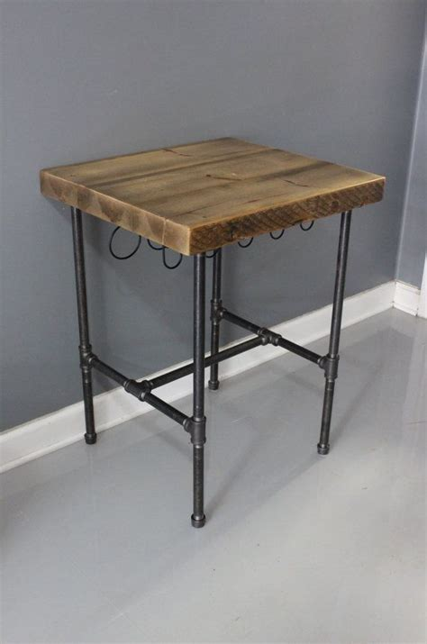 kitchen island table legs kitchen island butcher block using reclaimed pipes as legs