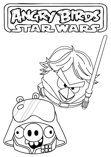 coloring page angry birds star wars angry birds star wars coloring pages free printable