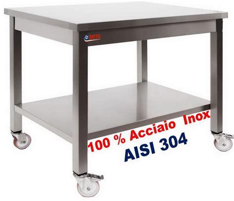 tavoli in acciaio inox tavoli inox su ruote tavolo inox su gambe con ruote dim
