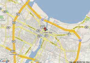 map of by city map of inn green bay city centre green bay