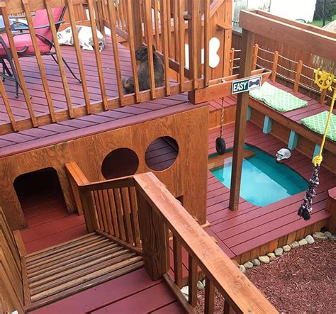 dog play house owner builds epic three story playhouse for his dogs this dog s life dog community