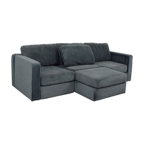 used lovesac 77 lovesac lovesac grey center chaise sectional sofas