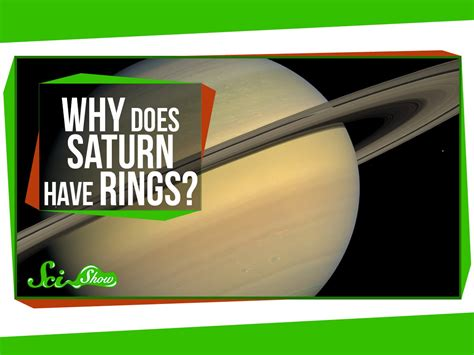 why does a a why does saturn rings