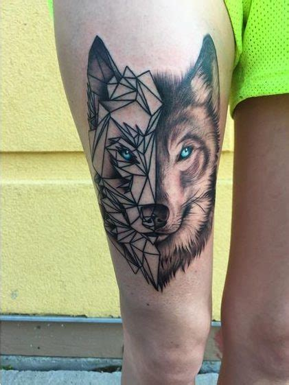 tattoo geometrico lobo estilo geom 233 trico tattoo tatoo and tattos