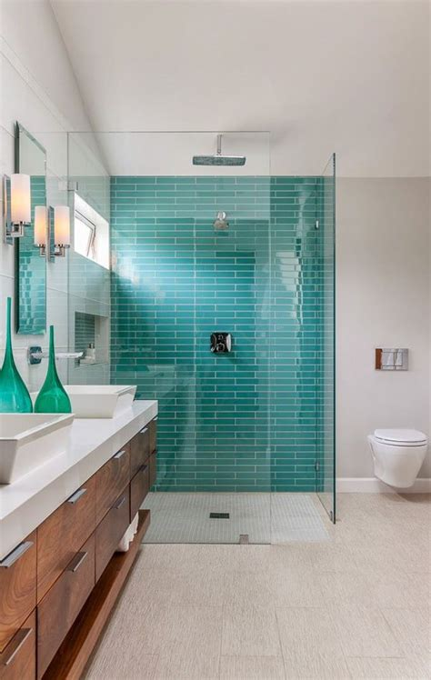 blue tiled bathroom pictures 40 blue glass bathroom tile ideas and pictures