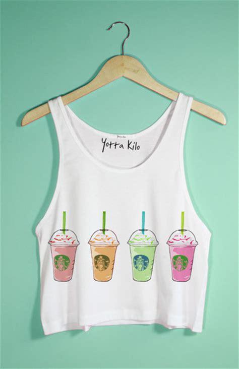 Gildan Starbucks Coffee By Omfash tank top starbucks coffee crop tops