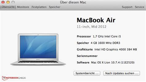 Mba 11 Review by Review Apple Macbook Air 11 Mid 2012 Subnotebook