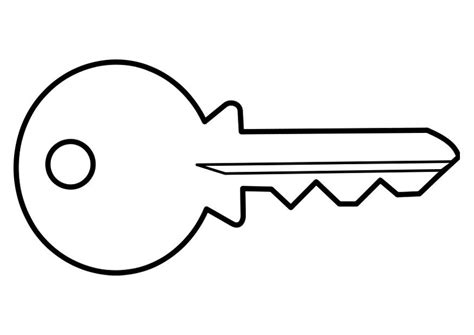 printable keys coloring pages outline of a key free download best outline of a key on