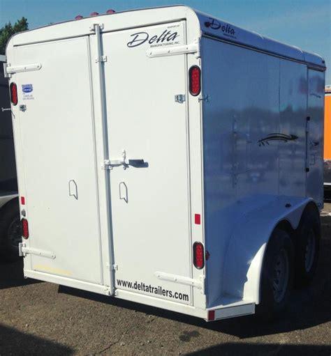 6x12 delta steel cargo trailer doors clearance