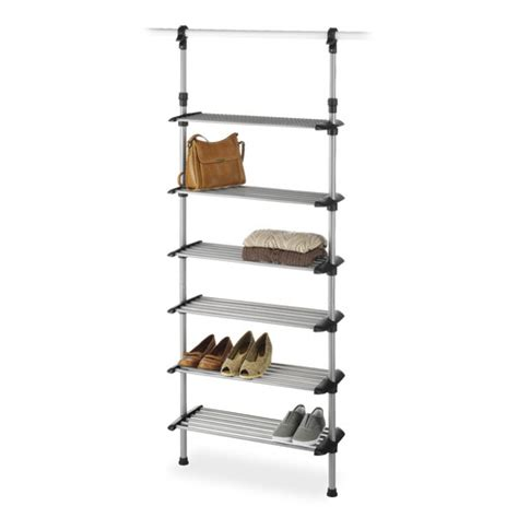 Closet Rack System Closet 6 Shelf Shoe Rack System Wayfair