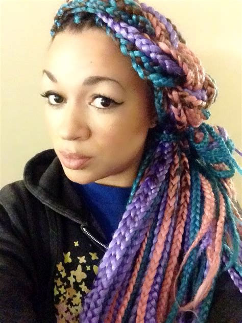 colored braids i tried it multi colored box braids bglh marketplace