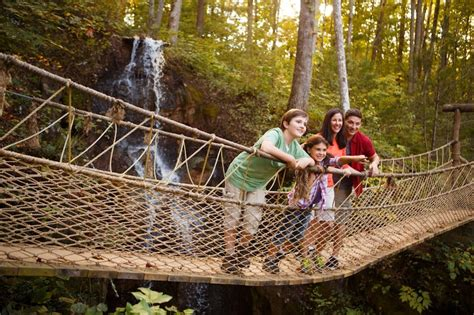 swinging bridge pigeon forge 5 things to know about the foxfire mountain swinging