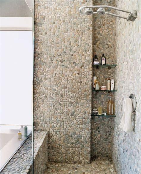 agréable Faience Murale Salle De Bain #4: 0-jolie-salle-de-bain-avec-douche-italienne-galet-salle-de-bain-galet-carreaux-mosaique.jpg