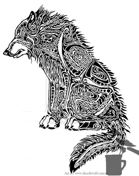 dire wolf tattoo dire wolf design by diardiwolf deviantart on