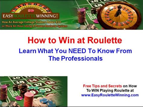 How To Win Money On Roulette - how to win at roulette best roulette strategy to win on vimeo