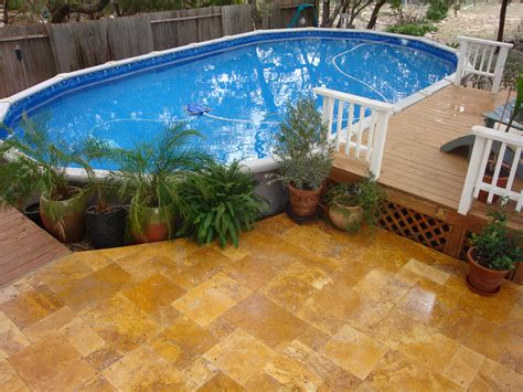 Above Ground Pool Backyard Landscaping Ideas by Backyard Above Ground Pool Ideas Large And Beautiful