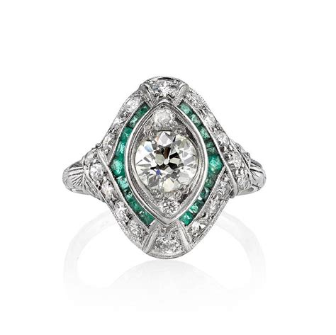 cut emerald accents ring at 1stdibs