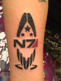 n7 tattoo 1000 ideas about mass effect on mass