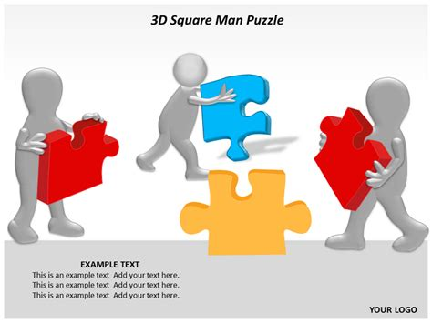 free puzzle powerpoint template best photos of 3d powerpoint templates 3d