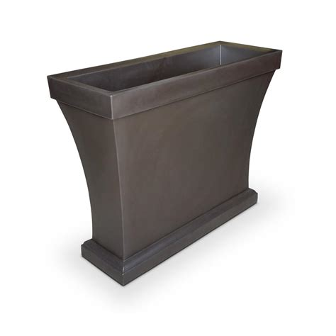 Plastic Trough Planter by Mayne Bordeaux 40 In Espresso Plastic Trough Planter 8890