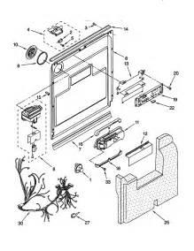 Kitchenaid Dishwasher Parts Store Door And Latch Diagram Parts List For Model Kudm24sewh5