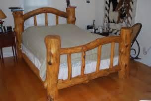 Pine Log Bed Frame Pondarosa Pine Log Bed By Brent Livingwell Lumberjocks Woodworking Community