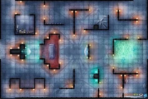D D Mats by Paizo Dungeons Dragons Mat Temple Of Lolth