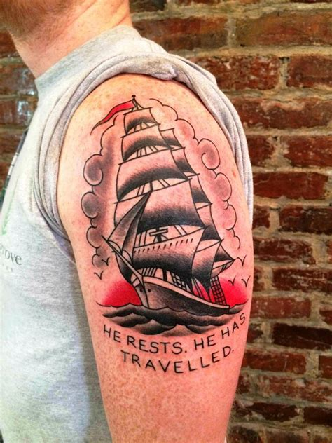clipper ship tattoo designs 30 dashing ship designs and ideas for you to try