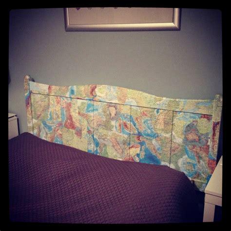 Decoupage Furniture With Maps - world map decoupage headboard furniture