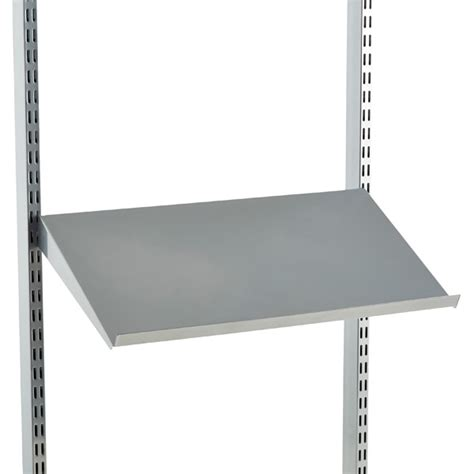 Angled Wall Shelf by Platinum Elfa Angled Solid Metal Shelves The Container Store