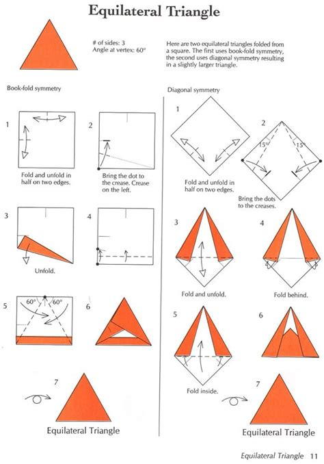 How To Fold A Paper Into A Triangle - 55 best images about triangles on different