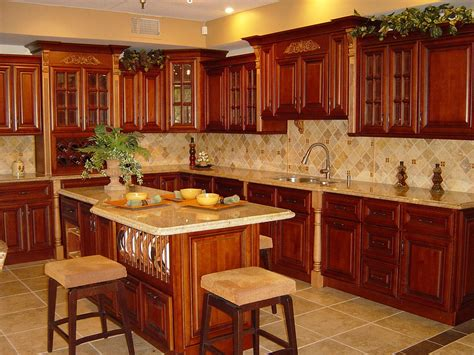 rustic cherry kitchen cabinets cherry rope kitchen cabinets home design traditional