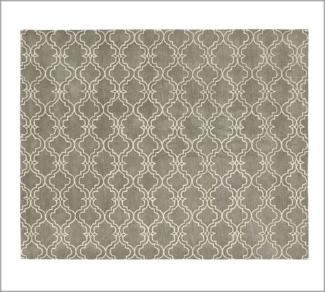 sale brand new pottery barn scroll tile gray woolen area