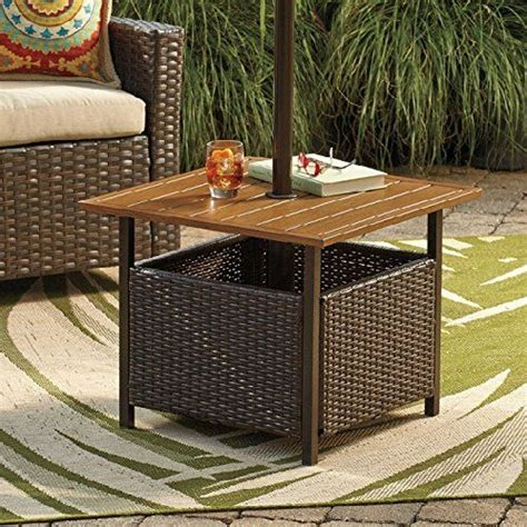 Patio Umbrella Stand Side Table The World S Catalog Of Ideas