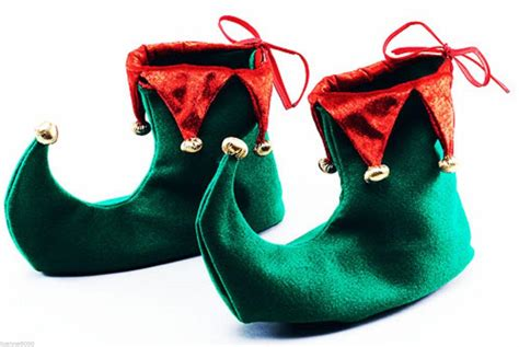 deluxe green and jester pixie shoes boots fancy dress costume ebay