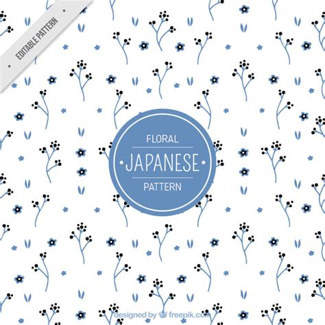 japanese pattern ai download japanese pattern with blue little flowers vector free