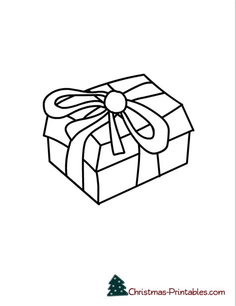 printable gift coloring page christmas gift pictures coloring home
