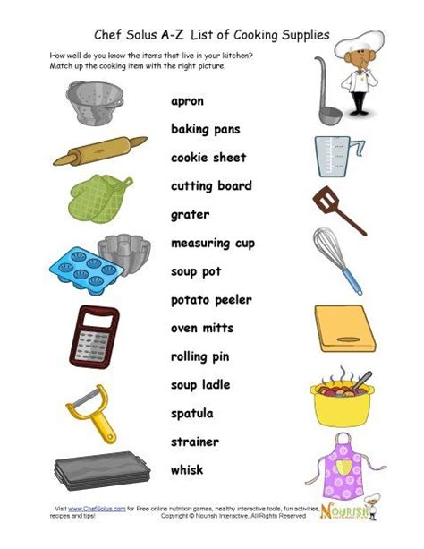 printable images of kitchen utensils free printable kitchen themed puzzle and activity pages