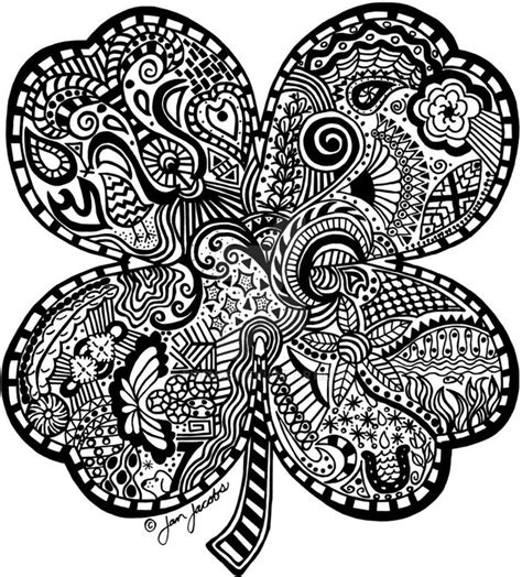 clover mandala coloring page 399 best images about adult colouring trees leaves