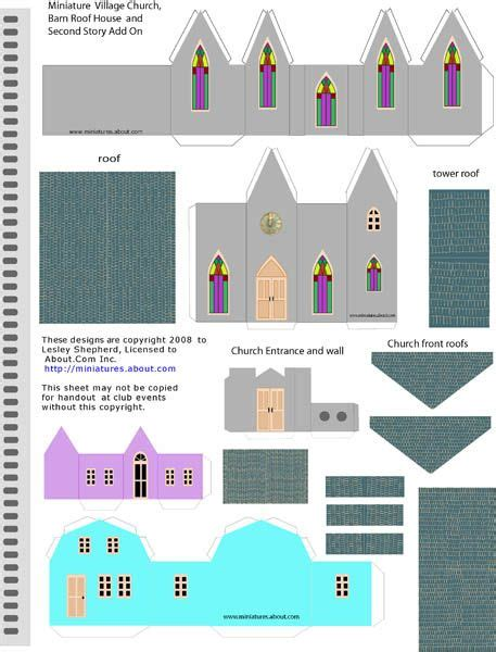 printable paper buildings 8 best images of printable template simple creative houses