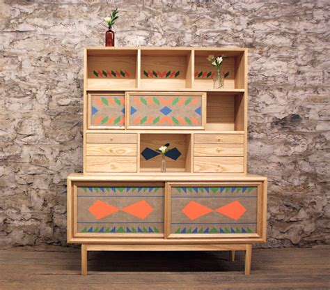 wooden furniture unusual wooden furniture with bright geometric patterns