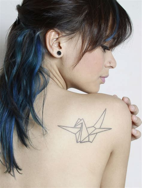 Origami Hair - 21 and colorful origami tattoos