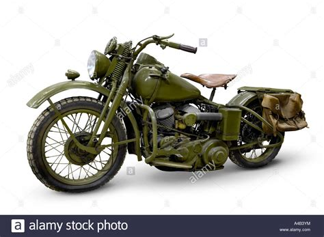 Motorrad Retro by Harley Davidson Wla 42 Retro Motorcycle Stock Photo